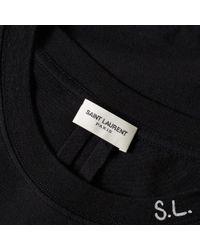Saint Laurent Black Sl Star Tee for men