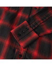 Saint Laurent Red Western Check Shirt for men