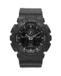 G-Shock Black Casio Ga-100cg-1aer 'cracked Ground' Watch for men