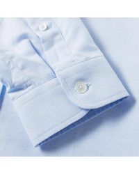 AMI Blue Button Down Oxford Shirt for men