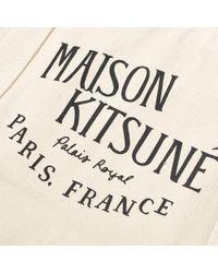 Maison Kitsuné Natural Maison Kitsuné Palais Royal Tote Bag