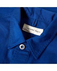 Universal Works Blue Military Work Shirt for men