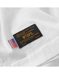 (w)taps White Long Sleeve Blank Tee for men
