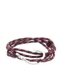 Miansai - Multicolor Silver Hook Rope Bracelet for Men - Lyst