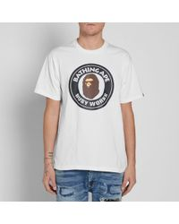 A Bathing Ape White Busy Works Tee for men