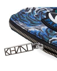 KENZO Blue All Over Tiger Wallet