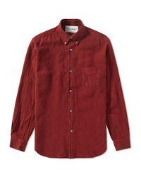Our Legacy Red Splash 1950s Shirt for men