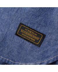 Neighborhood Blue Headlight Western Shirt for men