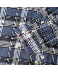 Paul Smith Blue Tailored Fit Plaid Shirt for men