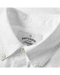 Portuguese Flannel White Belavista Oxford Shirt for men