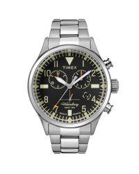 Timex Metallic Heritage Waterbury Chronograph Bracelet Watch for men