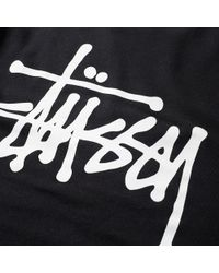Stussy | Black Basic Crew Sweat for Men | Lyst