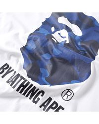 A Bathing Ape White Colour Camo By Bathing Tee for men