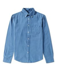 Gant Rugger Blue Indigo Oxford Shirt for men