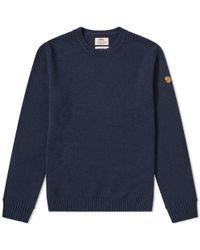 Fjallraven Blue Övik Crew Knit for men