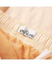 Stone Island Natural Brushed Nylon Patch Logo Swim Short for men