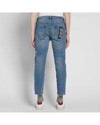 Ksubi Blue Chitch Chop Cropped Jean for men