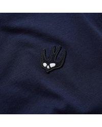 McQ Alexander McQueen Blue Mcq By Alexander Mcqueen Chest Logo Tee for men