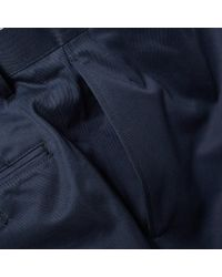 Thom Browne Blue Lightweight Unconstructed Chino for men