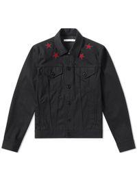 Givenchy Black Star Denim Jacket for men