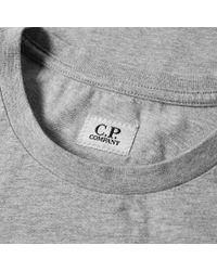 C P Company Gray Reflective Logo Tee for men