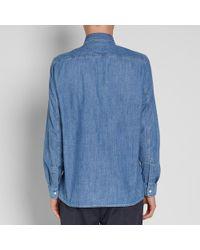 Our Legacy Blue Denim Shirt for men
