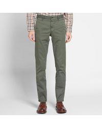 Incotex Green Slim Fit Stretch Chino for men