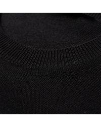 Alexander McQueen Black Shoulder Insert Crew Knit for men