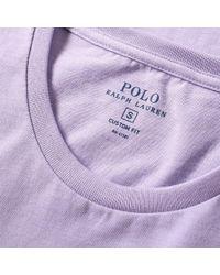 Polo Ralph Lauren Purple Custom Fit Crew Tee for men