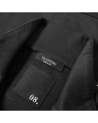 Valentino Black Rockstud Untitled Track Top for men
