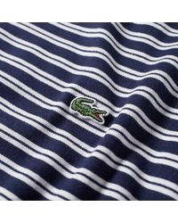 Lacoste - Blue Stripe Jersey Tee for Men - Lyst