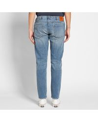 Paul Smith Blue Tapered Fit Japanese Slub Jean for men
