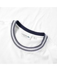 Lacoste White Tipped Jersey Tee for men
