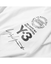 Y-3 White Stacked Logo Crew for men