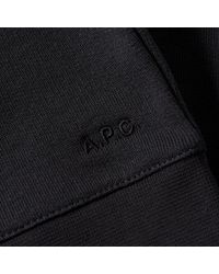 A.P.C. Black Oh L'amour Crew Sweat for men