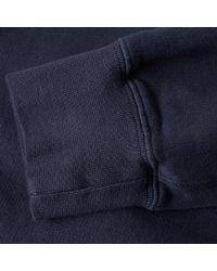 Aspesi Blue Garment Dyed Crew Sweat for men