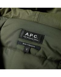 A.P.C. Green Draft Parka for men
