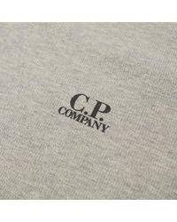 C P Company Gray Print Logo Crew Sweat for men