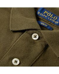 Polo Ralph Lauren Brown Slim Fit Polo for men