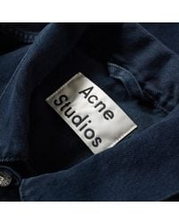 Acne Black Who Denim Jacket for men