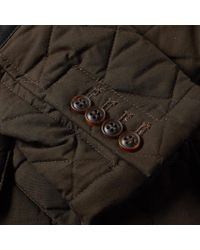 Nigel Cabourn Brown X Lavenham Quilted Mallory Jacket for men