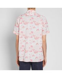 Engineered Garments Pink Short Sleeve Camp Shirt for men