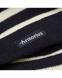 Armor Lux Blue Striped Mariner Beanie for men