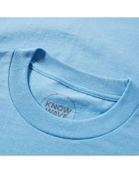 Know Wave Blue Chest Logo Tee for men