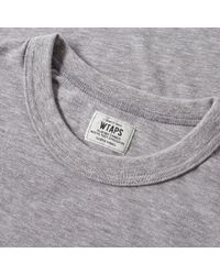 (w)taps Gray Hellweek Back Design Tee for men