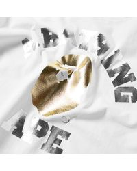 A Bathing Ape White Foil Mix College Tee for men