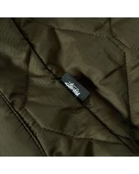 Stussy Green Quilted Military Jacket for men