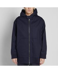 Acne Blue Mente Canvas Hooded Jacket for men