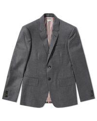 Thom Browne Gray Centre Stripe Wool Blazer for men