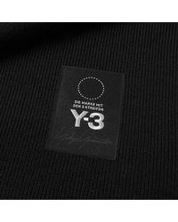 Y-3 Black Logo Scarf for men